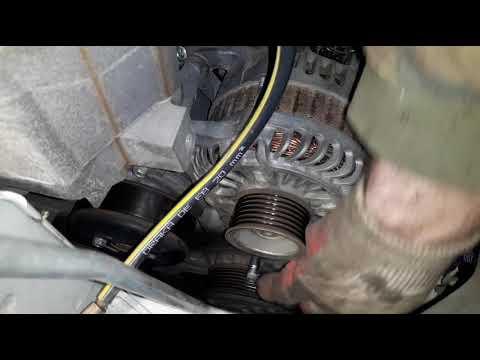 Замена ремня генератора Nissan Qashqai 10
