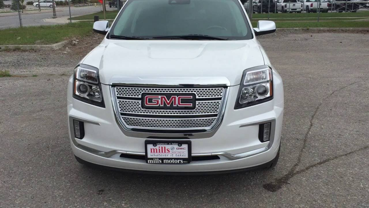 2017 Gmc Terrain Denali Awd Sunroof White Oshawa On Stock 170183 You