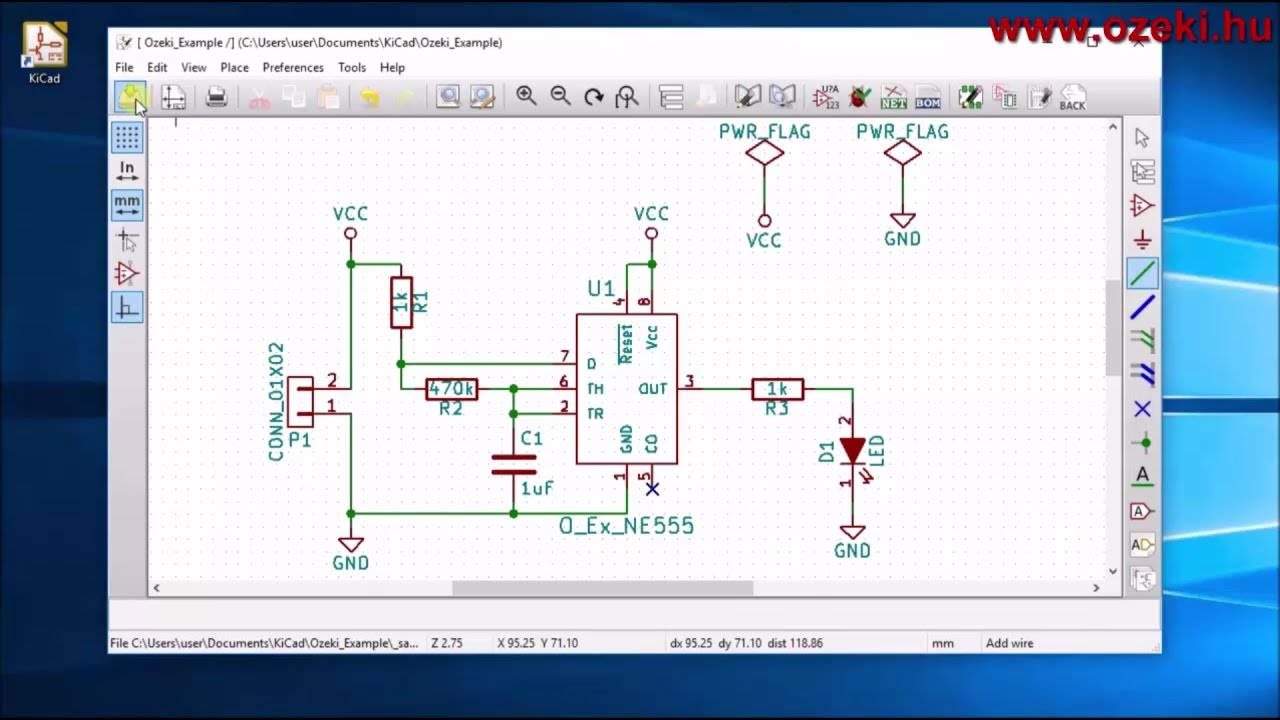 PCB designing part 1: How to design the schematics (KiCad) - YouTube