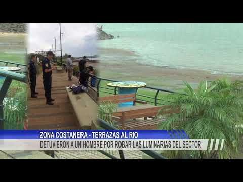 Un hombre fue detenido en el momento que se encontraba robando elementos de la costanera