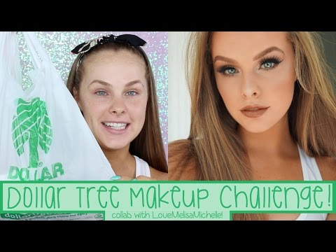 Dollar Tree Makeup Challenge | Collab with LoveMelisaMichelle!