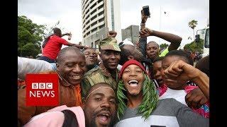 Zimbabwe crisis: 'People sense Robert Mugabe is gone' - BBC News