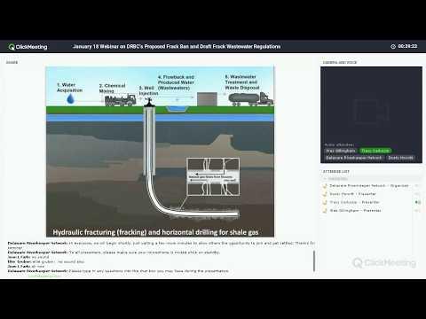 Webinar #3 on the DRBC's Proposed Frack Ban - Frack Waste Processing and Discharge (2018-01-18)