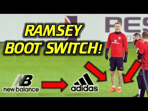 Why Aaron Ramsey Switched from New Balance to Adidas? (Boot Switch)
