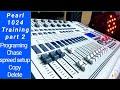 Mini Pearl 1024 Dmx Controller Training part 2 Programing /Chase