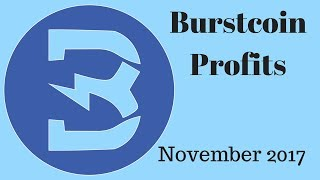 Burstcoin Mining Profit in November 2017