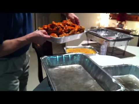 Super Bowl Party Ideas: Simple Hot Food Buffet !