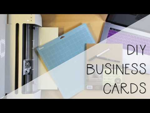 DIY Business Cards - Cricut Tutorial