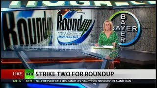 Bayer stocks PLUMMET after Roundup ruling A federal jury has decided against agrochemical giant Monsanto, concluding that the company's weed killer contributed to the cancer of 70-year-old Edwin ..., From YouTubeVideos