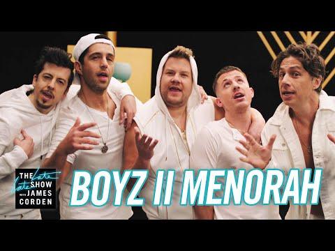 Jennie James - James Corden Goes 90's Boy Band To Celebrate Hanukkah