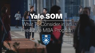 Webinar: What To Consider in an Executive MBA Program