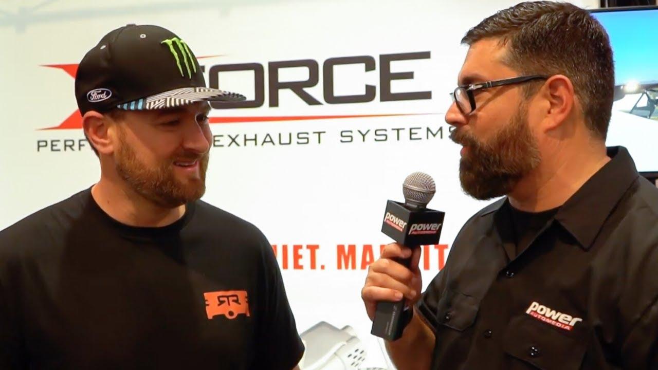 XForce Performance Exhaust Technology at SEMA 2019 with Vaughn Gittin Jnr