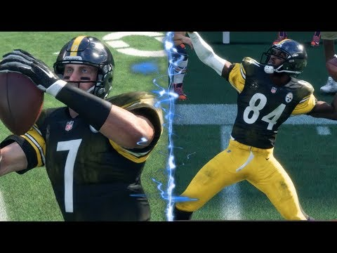 Can Antonio Brown Throw A Touchdown Pass Before Ben Roethlisberger Can Catch One? Madden 18