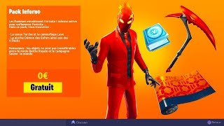 "🔥 NEW PACK OF SKIN FREE ""INFERNO PACK"" ON FORTNITE!"