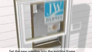 jeld wen pocket replacement double hung window
