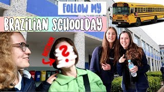 VLOG in BRAZILIAN HIGHSCHOOL as an EXCHANGE STUDENT (english) | exchange year 2018/19 ✈️ Leonie4ever