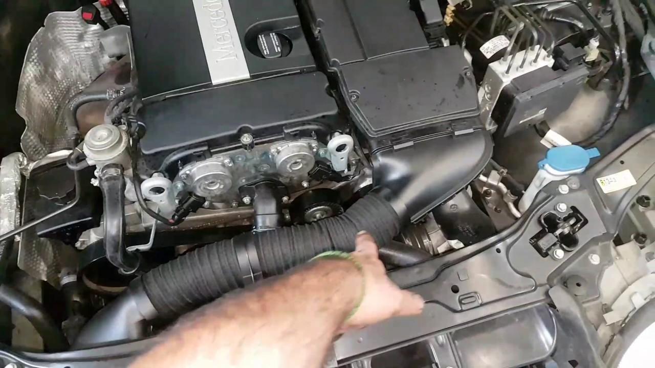Mercedes Benz Intake Tube Snorkel Cold Air Intake Broken C