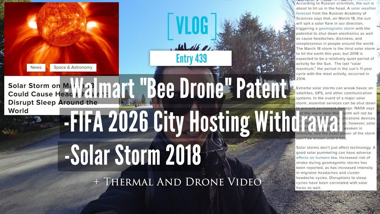 Walmart Drone Patent Plus Solar Storm And FIFA 2026 Hosting Withdrawal