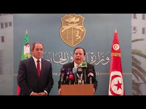 وزير الشؤون الخارجية خميّس الجهيناوي يستقبل نظيره الجزائري