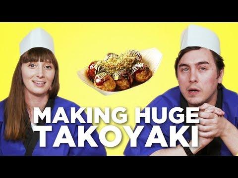 Making HUGE Takoyaki (Octopus Balls) in the Tokyo Creative Office! [Feat. Abroad in Japan]