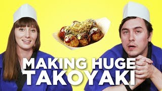 Making HUGE Takoyaki (Octopus Balls) in the Tokyo Creative Office! [Feat. Abroad in Japan]