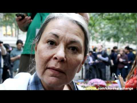 Roseanne Barr with We Are Change at Occupy Wall Street
