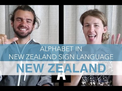 Alphabet in New Zealand Sign language