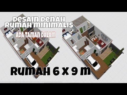 Gambar Desain Rumah Minimalis 6 X 9  desain rumah minimalis 6x9 m ada taman dalam rumah dilahan
