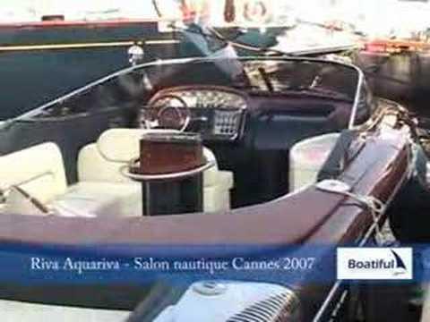 Aquariva salon nautique de cannes 2007 par boatiful for Salon nautique cannes