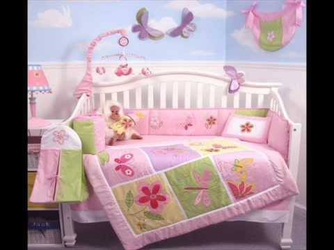 Butterflies Meadows Baby Crib Nursery Bedding Set 13 Pcs; Butterfly Bedding Set