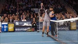 Djokovic & Murray Hit with Fans (2014 BNP Paribas Showdown)
