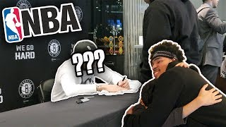 GIFTING MY BROTHER SIGNED AUTOGRAPH BY FAMOUS BASKETBALL PLAYER IN THE NBA!! **EMOTIONAL**