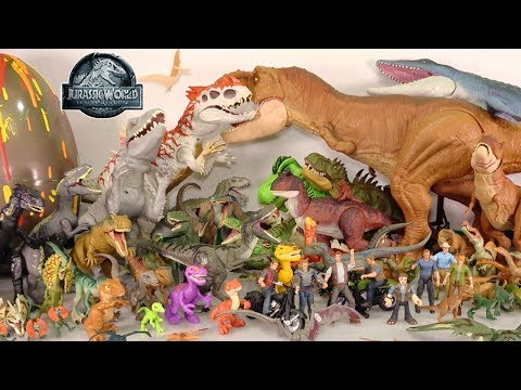 my-huge-jurassic-world-movie-dinosaur-toys-collection:-100+-toy-dinosaurs-+-surprise-dino-egg