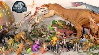 My Huge Jurassic World Movie Dinosaur Toys Collection: 100  Toy Dinosaurs   Surprise Dino Egg