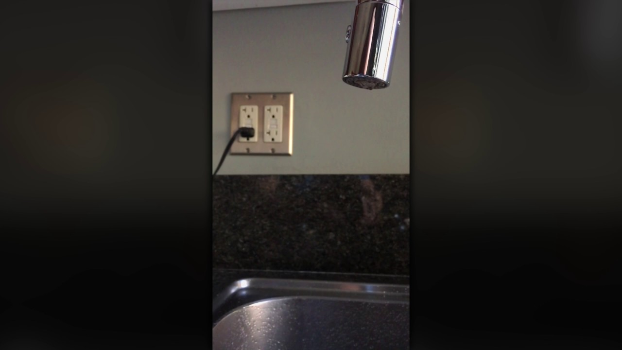 Water dripping from faucet - in slow motion - YouTube
