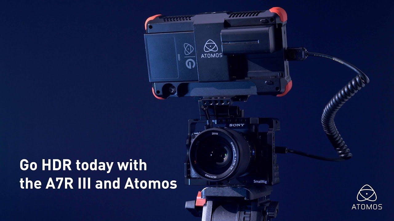 Sony A7R III and Atomos Flame 4K monitor recorder for amazing Log and HDR  video