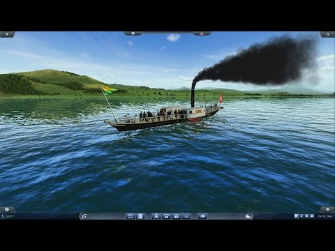 Lets play Transport Fever Ep 2, Setting up boats and water lines