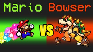 MARIO vs BOWSER in Among Us