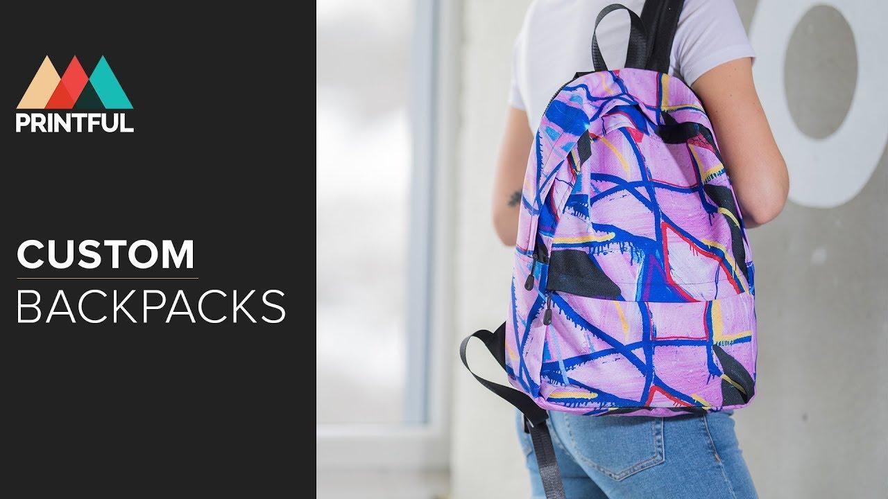 8d488bbd2a05 Custom backpacks  Printful Showcase - YouTube