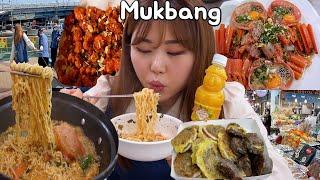 속초 먹방 ⛱  만석닭강정, 속초 동해안붉은대게 홍게장, 중앙시장,오징어순대 Mukbang