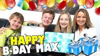 MAX Geburtstag 🎁 🎈Geschenke auspacken mit 15 😁 TipTapTube Family 👨👩👦👦