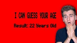 Can This Video Actually Guess Your Age, Height, and Name? (YES)