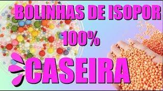 COMO FAZER BOLINHAS DE ISOPOR COLORIDAS CASEIRA PARA SLIME |NOVO ROSA .