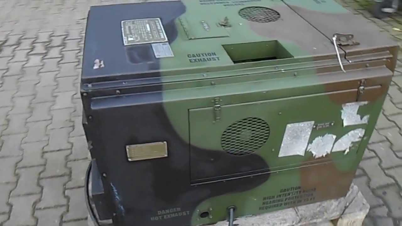 Military Vehicles For Sale >> Nice low hour 3KW Military Diesel Generator MEP-701a with ASK - YouTube