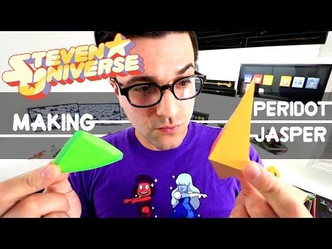 Steven Universe DIY Making Peridot and Jasper Gem