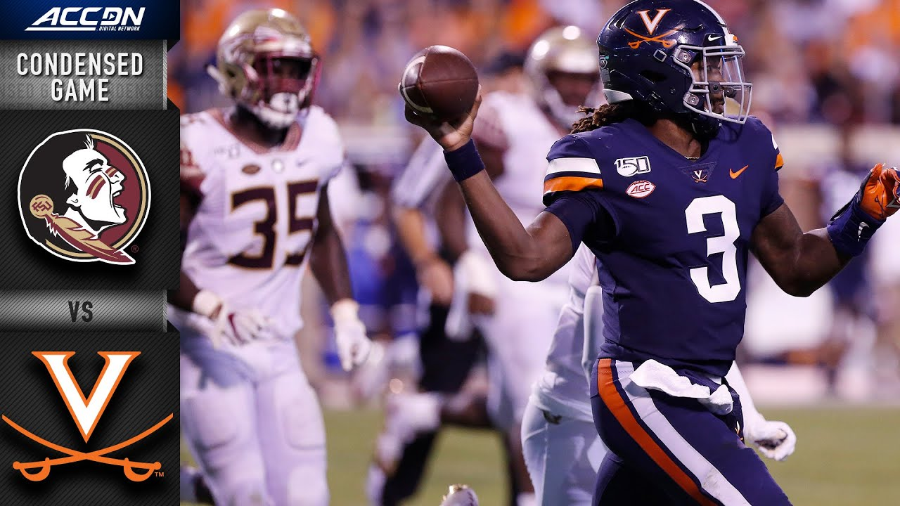 Florida State Vs Virginia Condensed Game Acc Football 2019 20 Youtube