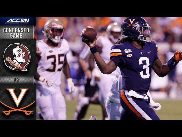 Florida State vs. Virginia Condensed Game | ACC Football 2019-20