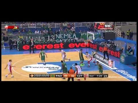 Panathinaikos Athens - Crvena zvezda Telekom | Zakucavanje Mitrovića
