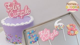 TOPPERS DE ROYAL ICING PARA PASTELES (toppers comestibles) / #96