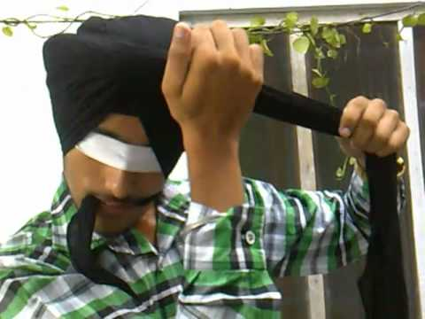 how to tie turban without mirror (Harmandeep singh from mukerian.......HOW TO TIE TURBAN)